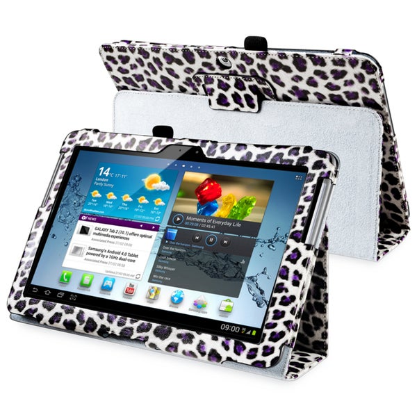 INSTEN Leather Tablet Case Cover with Stand for Samsung Galaxy Tab 2 10.1 P5100