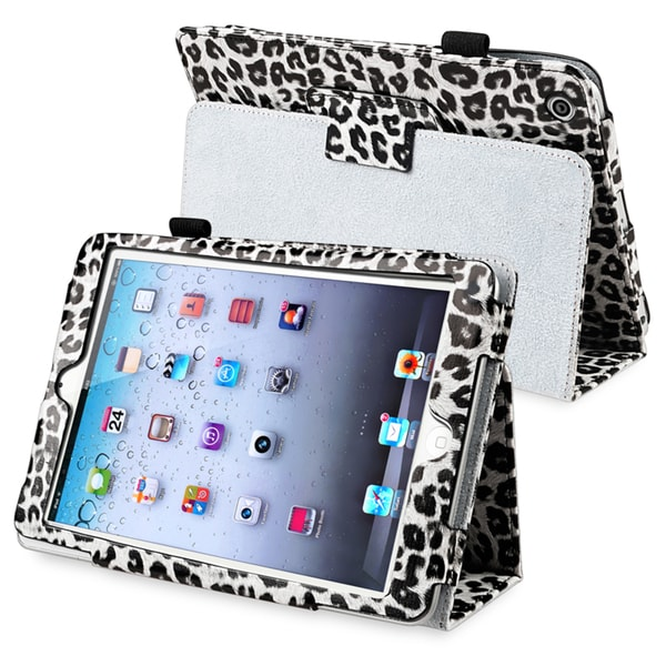 BasAcc White Leopard Leather Case with Stand for Apple® iPad Mini