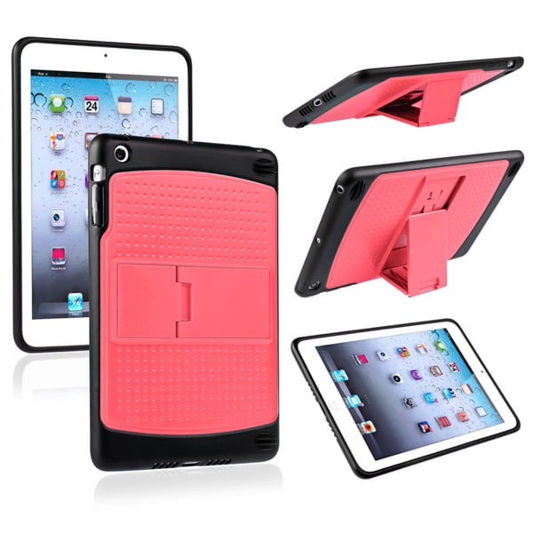 BasAcc Pink/ Black TPU Hybrid Case with Stand for Apple® iPad Mini