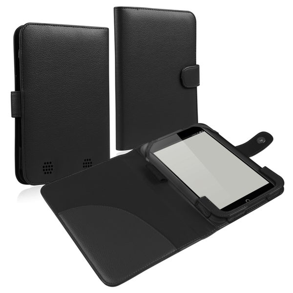 BasAcc Black Leather Case for Barnes & Noble Nook HD