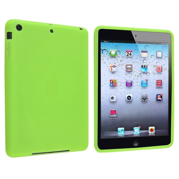 INSTEN Green Soft Silicone Tablet Case Cover for Apple iPad Mini 1/ 2 Retina Display