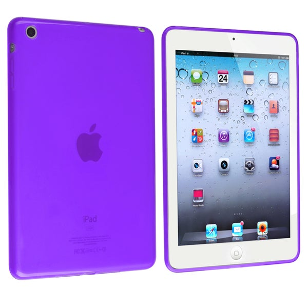 BasAcc Frost Clear Purple TPU Rubber Case for Apple iPad Mini