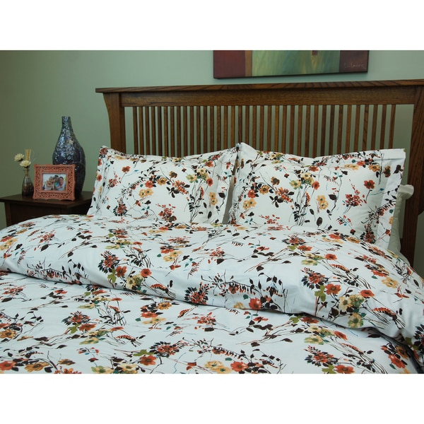 Brielle Flower Field 3-piece Duvet Cover Set