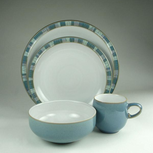 Denby Azure Coast 16 Piece Stoneware Dinnerware Set