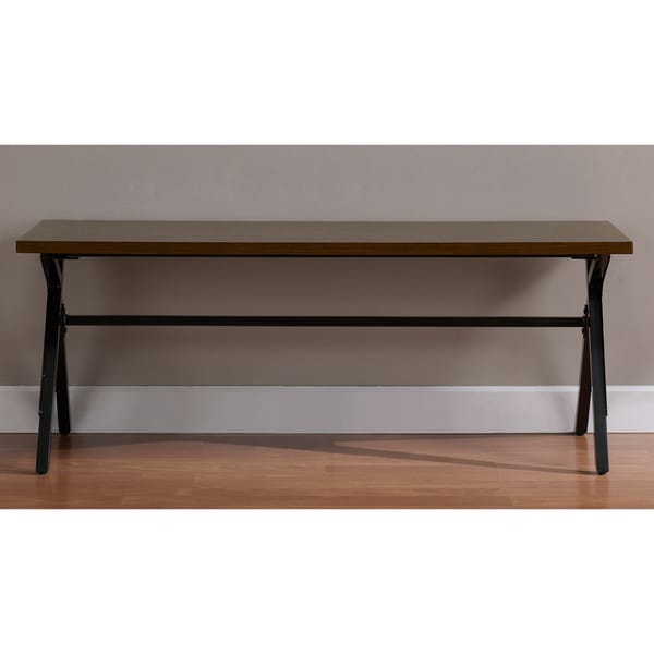 Schoolhouse Walnut Finish Bench