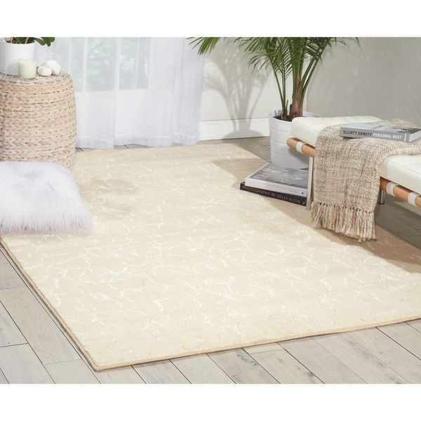 Nourison Nepal Lines Ivory Rug (9'6 x 13)