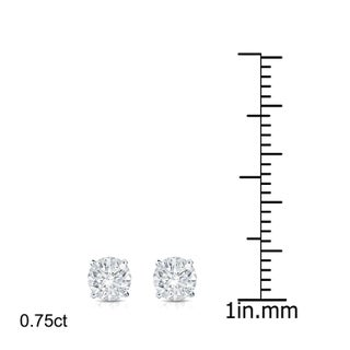 Auriya 14k Gold 1 carat to 3ct TDW Clarity-Enhanced Round Diamond Stud Earrings (More options available)