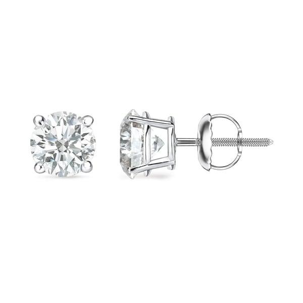 Auriya 14k Gold 1 to 3ct TDW Clarity-Enhanced Diamond Solitaire Stud Earrings