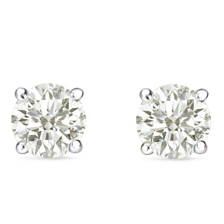 Auriya 14k Gold 1 carat to 3ct TDW Round Clarity-Enhanced Diamond Stud  Earrings 9a639cca0