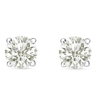 Auriya 14k Gold 1 to 3ct TDW Clarity-Enhanced Diamond Solitaire Stud Earrings (I-J, I2-I3)