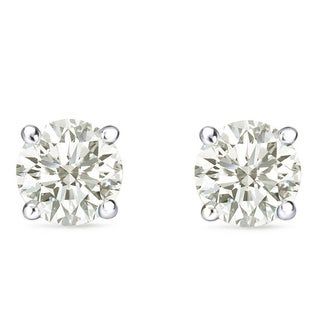 Auriya 14k Gold 1 to 3ct TDW Clarity-Enhanced Diamond Solitaire Stud Earrings