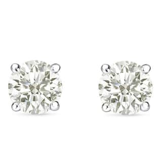 Auriya 14k Gold 1 to 3ct TDW Clarity Enhanced Diamond Solitaire Stud  Earrings. Fine Jewelry For Less   Overstock com