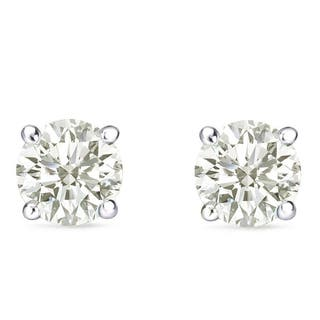 Auriya 14k Gold 1 carat to 3ct TW Round Clarity-enhanced Diamond Stud Earrings