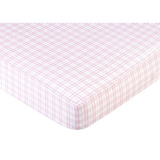 Sweet JoJo Designs Pink Teddy Bear Fitted Crib Sheet