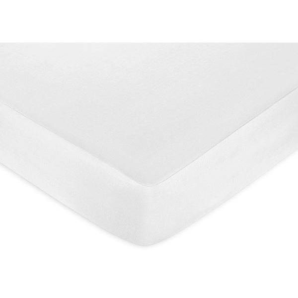 Sweet JoJo Designs Solid White Cotton Fitted Crib Sheet