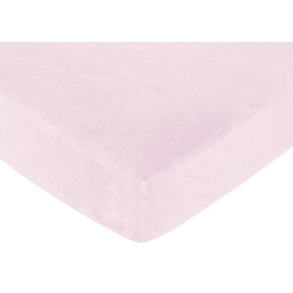 Sweet JoJo Designs Pink Microsuede Funky Zebra Fitted Crib Sheet