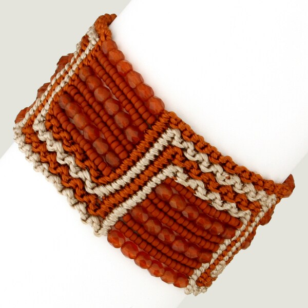 Marisol 'Rio Rufous' Macrame Bracelet (Guatemala)
