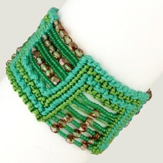 Marisol 'Ocean Limelight' Macrame Bracelet (Guatemala)