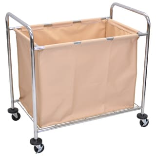 Luxor Steel Frame Laundry Cart and Canvas Bag