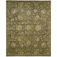 Hand-tufted Jaipur Light Green Rug (5'6 x 8'6)