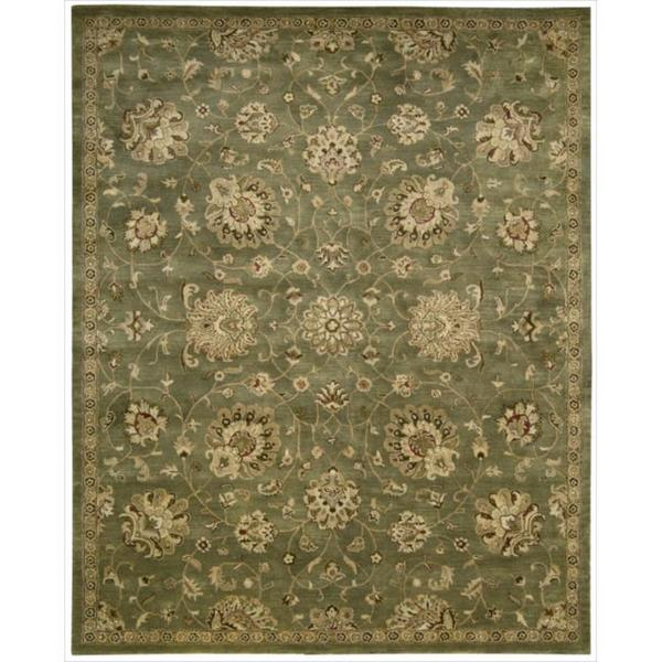 "Hand-tufted Jaipur Light Green Rug (5'6 x 8'6) - 5'6"" x 8'6"""