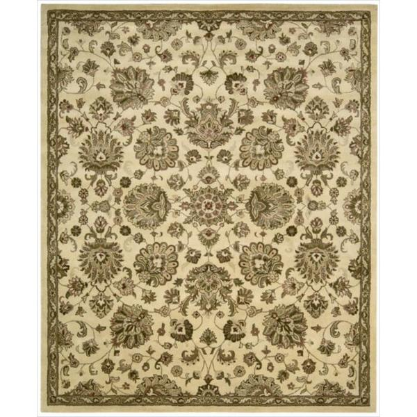 Hand-tufted Jaipur Ivory Rug (7'9 x 9'9)