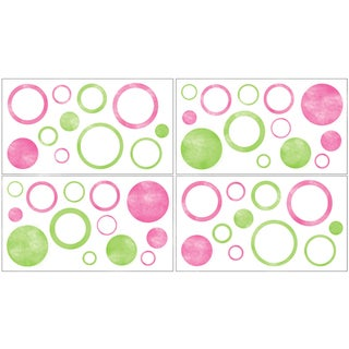 Sweet JoJo Designs Modern Circles Wall Decal Stickers (Set of 4)