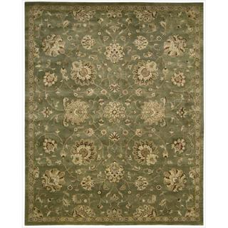 Hand-tufted Jaipur Light Green Rug (7'9 x 9'9)