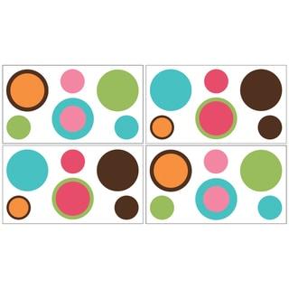 Sweet JoJo Designs Modern Deco Dot Wall Decal Stickers (Set of 4)