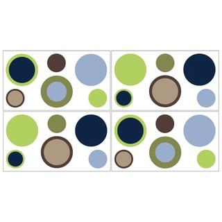Sweet JoJo Designs Designer Dot Wall Decal Stickers (Set of 4)