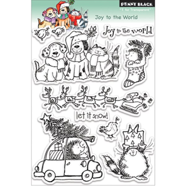 Penny Black 'Joy To The World' Cling Rubber Stamp