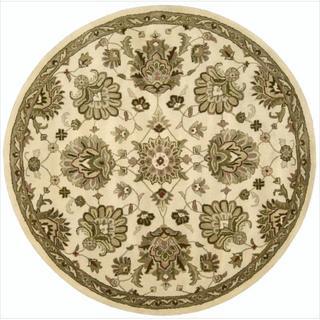 Hand-tufted Jaipur Ivory Rug (8' Round)
