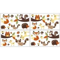 Sweet Jojo Designs Forest Friends Peel and Stick Wall Decal Stickers Art Nursery Decor (Set of 4)