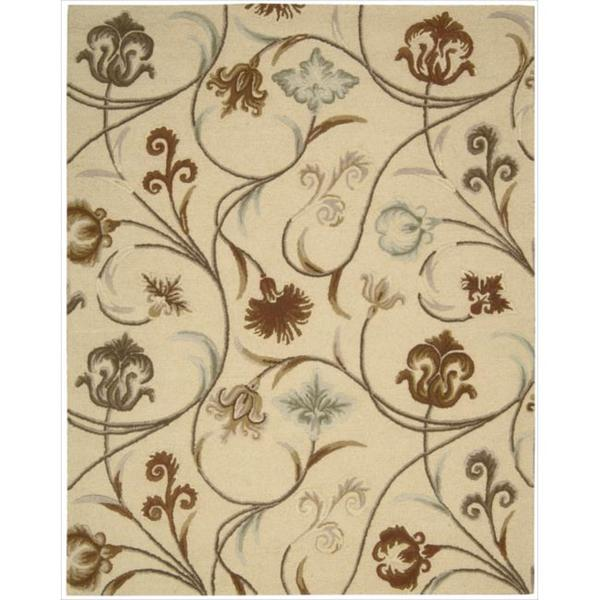 Hand-tufted 'In Bloom' Beige Wool Rug (7'6 x 9'6)