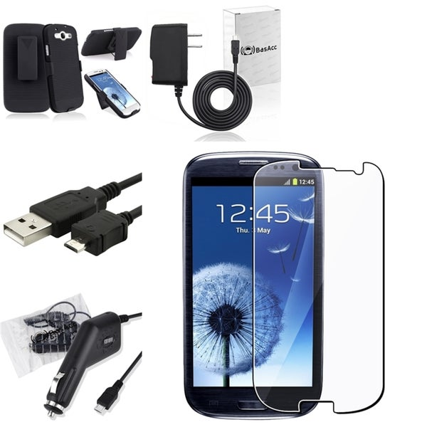 BasAcc Protector/ Charger Set for Samsung Galaxy S III/ S3