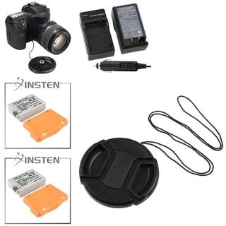 INSTEN Battery/ Lens Cap/ Cap Holder/ Charger for Canon EOS 550D/ 600D