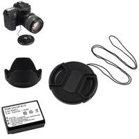 INSTEN Li-ion Battery/ Lens Cap and Hood Set for Canon EOS 7D