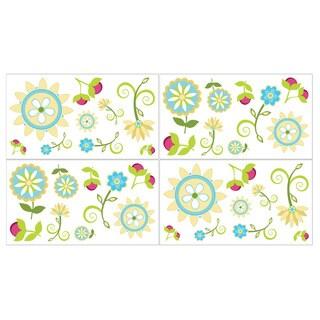 Sweet JoJo Design Layla Wall Decal Stickers (Set of 4 Sheets)