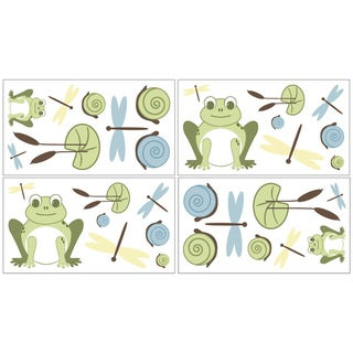 Sweet JoJo Designs Leap Frog Wall Decals (Set of 4)