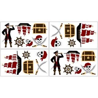 Sweet JoJo Designs Treasure Cove Pirate Wall Decals (Set of 4)
