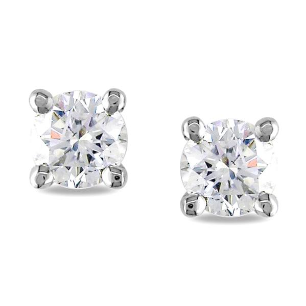 Miadora 18k White Gold 3/4ct TDW Diamond Earrings (F-G, I1-I2)
