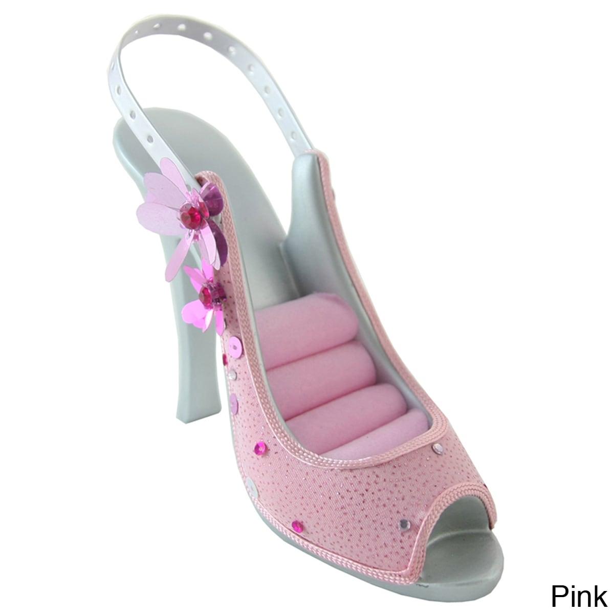 Jacki Design Sequined Flower Shoe Ring Earring Holder Overstock 7599703