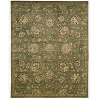 Hand-tufted Jaipur Light Green Rug (9'6 x 13'6)