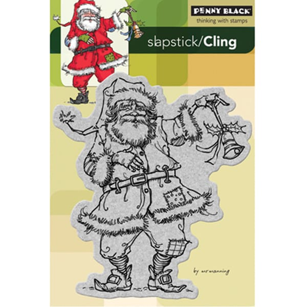Penny Black 'Ragged Santa' Cling Rubber Stamp