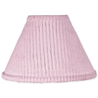 Sweet JoJo Designs Pink Chenille and Satin Lamp Shade