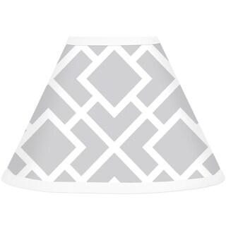 Sweet JoJo Designs Grey and White Diamond Lamp Shade