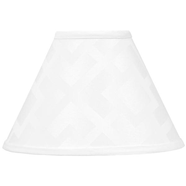 Sweet JoJo Designs White Diamond Jacquard Lamp Shade