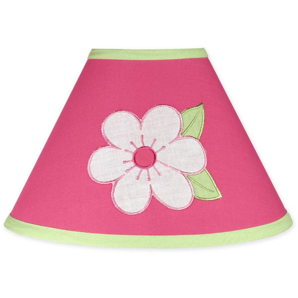 Sweet JoJo Designs Pink and Green Flower Lamp Shade