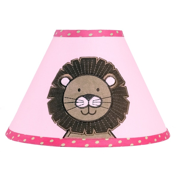 Sweet JoJo Designs Pink Jungle Friends Lamp Shade