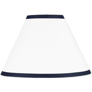 Sweet JoJo Designs White and Navy Modern Hotel Lamp Shade